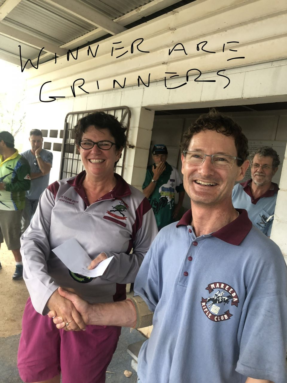 Me picking up my prize for 1st in FTR at Mareeba